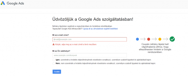 google ads bejelentkezes