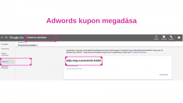adwords kupon megadasa