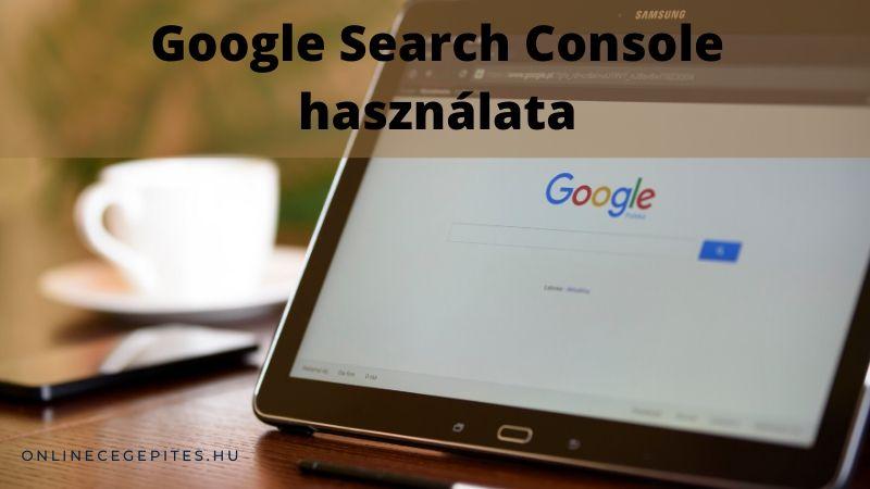 Google Search console használata