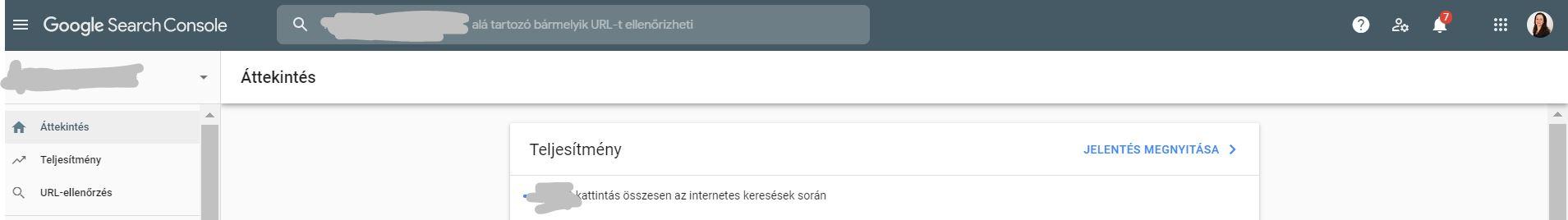 google-search-console-bejelentkezve